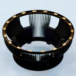 circular component coated with magic black coating