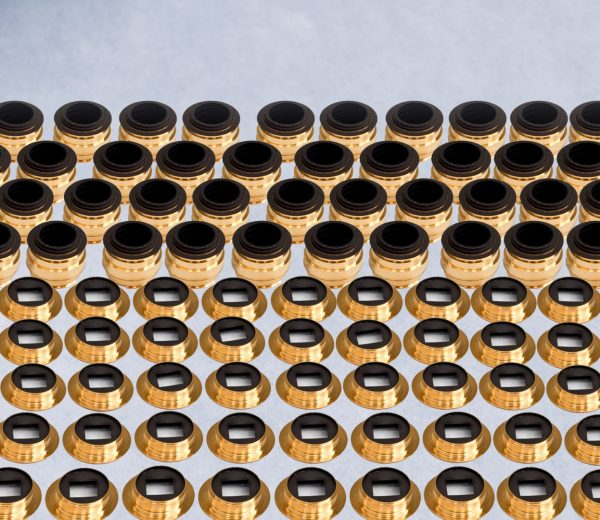 lots of tiny gold components coated with fractal black coating