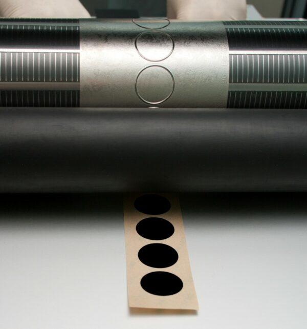 newly manufactured Die-Cut Black Label stripe