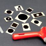 Die cut black labels for simple DIY black coating