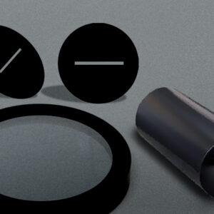 Blackened Opto-mechanical Components