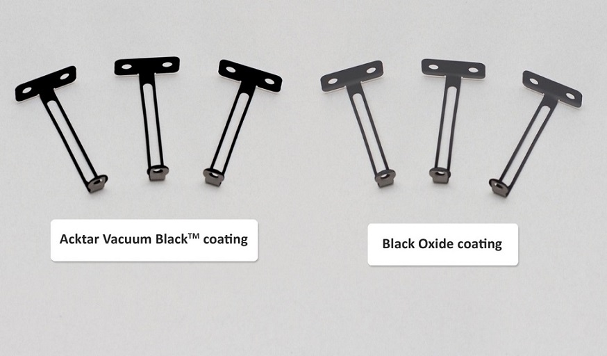 Black oxide vs acktar vacuum black coating